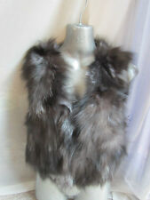 B25 new design 100% real silver fox fur short waist coat