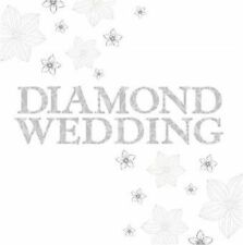 60th Strass Hochzeits- Jubiläumskarte Glitzer Finish Folie Premium Qualität