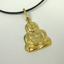 Buddha Pendant 14K Gold over Bronze Necklace USA Made Mens Jewelry Budda