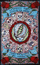 "Grateful Dead ""Mexicali Skulls"" 3D Tapestry 60x90 (Glasses Included) - FREE MAIL"