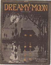 Dreamy Moon, Waltz Lullaby 1915, vintage sheet music