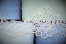 1/2 M*Corded /Scalloped Lace Trim-Bridal Fabric*Top QualityLight Ivory/Off White