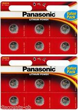 12x Panasonic CR 2016 Lithium Coin Batteries 3V, PC, Bell, Car Remote Battery DL