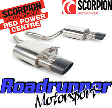 Scorpion SAUB029C Audi RS4 B7 Stainless Back Boxes Exhaust Inc Valves Black Tips