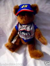 Nascar JIMMIE JOHNSTON Teddy Bear Plush LOWE'S Car Racing Team By Boyd's