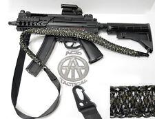 """550 Paracord Tactical Gun Sling 50"""" 2 Point Rifle Shotgun airsoft (Green/White)"""