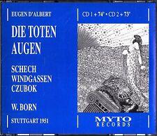 ██ OPER ║ Eugen d'Albert (*1864) ║ DIE TOTEN AUGEN ║ Wolfgang Windgassen ║ 2CD