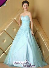 ♥Gr. 34,36,38,40,42,44,46,48,50 od.52 Ballkleid Abendkleid Brautkleid Blau+E480♥