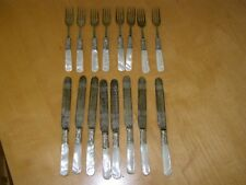 Vintage 16 Piece Mother of Pearl EPNS Cutlery Set - Knives and Forks