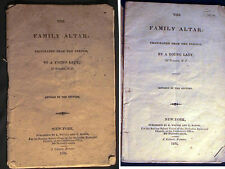 1834 METHODIST EPISCOPAL CHILDRENS BOOK THE FAMILY ALTAR CHRISTIAN INSPIRATIONAL