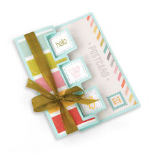 Sizzix Framelits Dies 10/Pkg-Triple Square Flip-Its Card