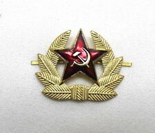 Russian USSR Soviet Hat Badge Gold Tone Red Star hammer sickle each R2249