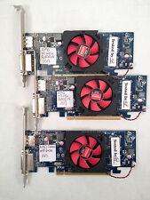 LOT of 3 AMD Radeon HD 6450 1GB PCIe DVI Display Port Graphics Video Card-Tested