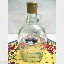 MAPLE SYRUP BOTTLE Canadian Clear Glass Shady Maple Farms 500ml Collectible
