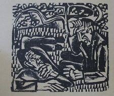 E. L. Kirchner Original  Holzschnitt 1923 Der Briggel - Unter dem Rebstock