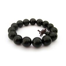 15mm Black Sandalwood Wood Beads Tibet Buddhist Prayer Bracelet Mala