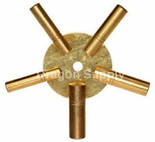 New EVEN Number Universal Brass Clock Key for Winding Clocks 5 Prong US SHIPPER