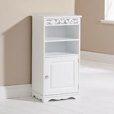 Free Standing White Wooden Bathroom Cupboard Storage Cabinet Unit Coral
