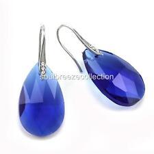 Royal Blue Chandelier Teardrop Dangle Drop Prom Bridal Shower Wedding Earrings