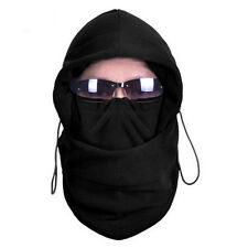 Men scarf BLACK Hood 4in1 SNOOD Fleece Balaclava Neck Winter warmer Face Mask AE