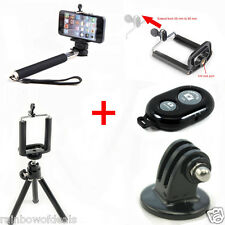 5 in 1 Tripod Bluetooth Remote Shutter Selfie Stick Holder and GoPro Adapter