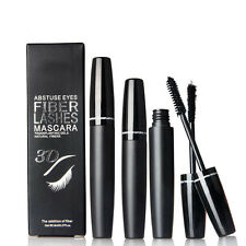 2Pcs 3D Collagen Charcoal Gel + Mascara Set Long Curling Natural Fiber Eyelash