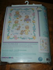 "Dimensions Someone New To Love Cross Stitch Baby Quilt Kit #72963 34x43"" NEW"