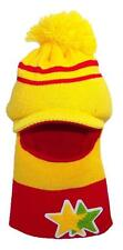 Kid/Child Winter Open Face Ski Mask Visor Beanie,Hat #200 Yellow/Red Stars