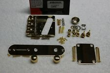 FENDER American Telecaster Gold Body HARDWARE SET Vintage 3 saddle USA Tele