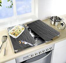 Wenko 2521480100 Universale Piano Cottura Piastra di copertura in vetro temperato grigio ardesia/