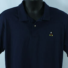 Vtg Disney Wear Mens L XL Polo Shirt Mickey Mouse Blue Large Golf Made In USA