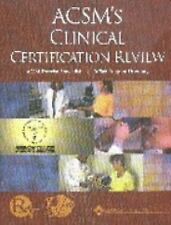 ACSM's Clinical Certification Review-ExLibrary