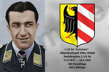 aviation art luftwaffe pilot photo postcard Otto Kittel colour WW2 JG 54 Fw 190