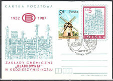 "Poland 1987 - Chemical plant ""Blachownia""- Cp 944 - postcard"