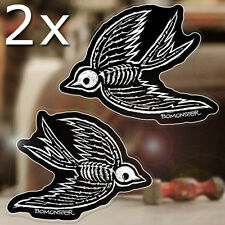 """2 x pieces BOMONSTER Sparrows sticker decal old school tattoo hot rod 4.5"""""""