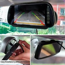 "7"" 7W Color Car Video Rearview Mirror Monitor with License Plate Backup Camera"