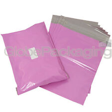"""100 x STRONG PINK 13x17"""" MAILING POSTAL POLY POSTAGE BAGS 13""""x17"""" (320x440mm)"""
