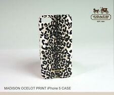 COACH iPhone 5 Case in Ivory Madison Ocelot Leopard Print 66367B