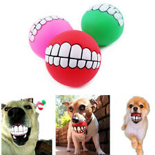 Hot Sound Play Toys Ball Dogs Teeth Silicon Toy Squeaky Chew Pet Dog Squeaker