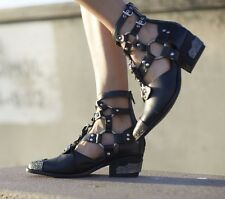 Jeffrey campbell Temeku black ankle boots size 11 new in box black