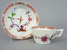 Meissen  Biedermeier Tasse mit Untertasse, um 1840, Fels und Vogel Dekor #2