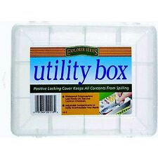 12 compartment, Translucent UB9 Utility Box by South Bend  7 x 5-1/2 x 1-3/4 in