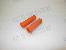 NEW VESPA RUBBER HAND GRIP COVER SET 22mm VBA / VBA ORANGE