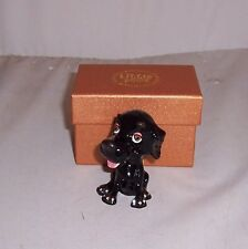 LITTLE PAWS Miniatures - figurine boxes Jet the Black Labrador