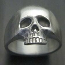 MJG STERLING SILVER KR SKULL RING. SATIN FIN. SZ 10 1/4. KEITH RICHARDS. SLASH