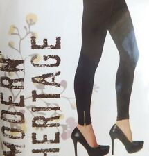 Modern Heritage Seamless leggings, Size-L/XL, Color-Black-Zipper Design