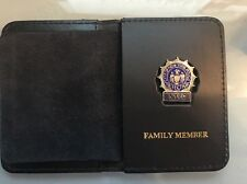 NYPD Detective  Family Member Wallet with Union Mini Badge - 2016 NYPD PBA