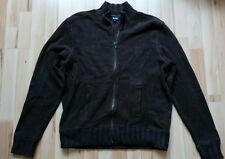 """Stylish Guise Mens Brown 100% Cotton Knit Cardigan Size M To Fit 46"""" Chest"""