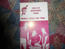 1963-64 NORTHEAST LOUISIANA INDIANS BASKETBALL MEDIA GUIDE MIKE VINING 1964 AD