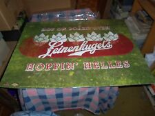 Unused Leinenkugel's Metal Tacker 24 x 18 Inch Hop on Board with Hoppin' Helles